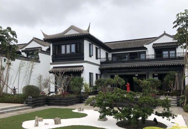 中式四合院别墅《绿城桃李春风》 120平花园 环境优美